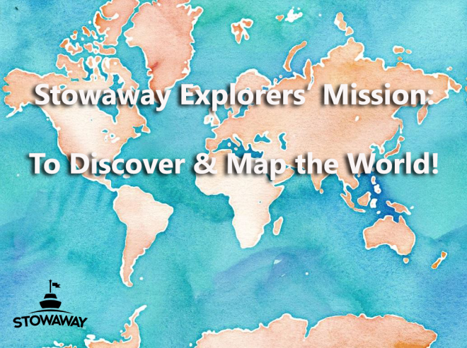Watercolor World Map Mission